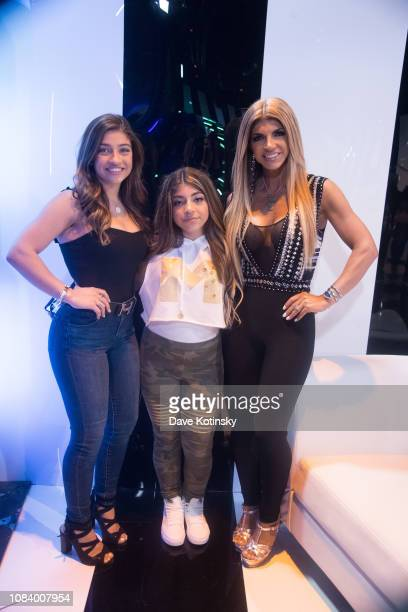 Teresa Giudice, Gia Giudice and Milania Giudice attend Milania Giudice's Song Release Party on May 31, 2018 in Englewood, New Jersey.