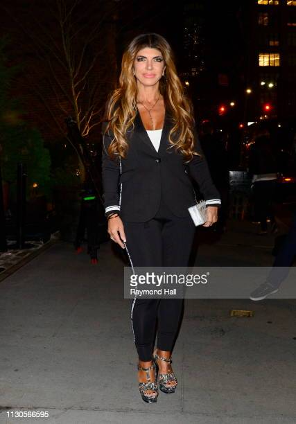 Teresa Giudice is seen outside a hotel on March 14 2019 in New York City