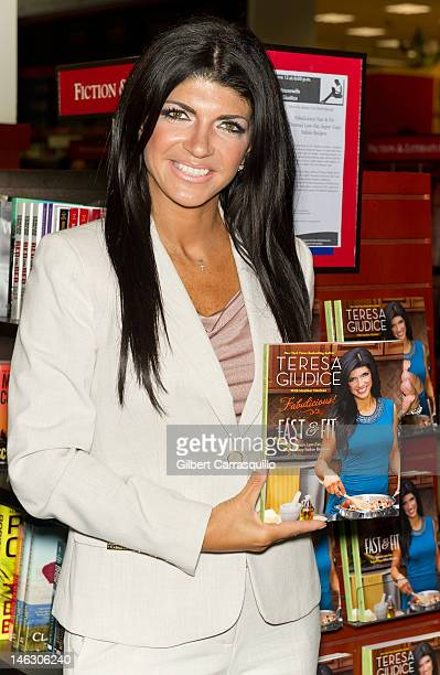 Teresa Giudice of Real Housewives of New Jersey promotes 'Fabulicious Fast Fit' at the UPenn Bookstore on June 13 2012 in Philadelphia Pennsylvania