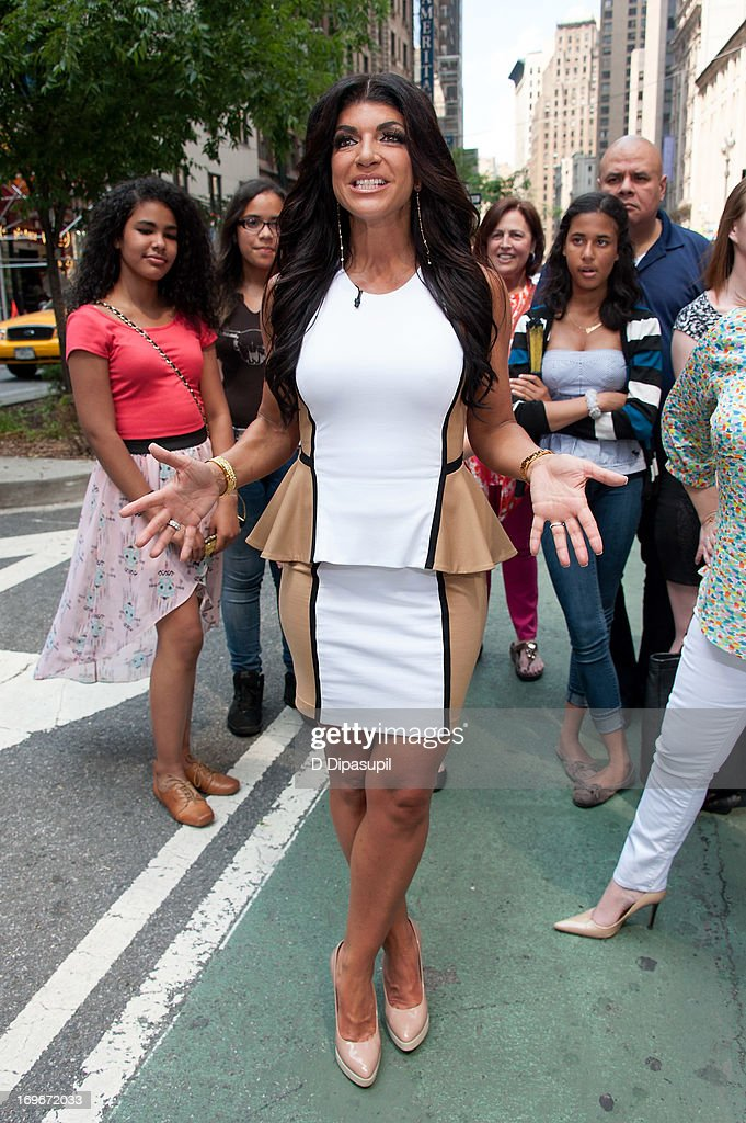 Teresa Giudice of 'Real Housewives of New Jersey' visits 'Extra' in Times Square on May 30, 2013 in New York City.