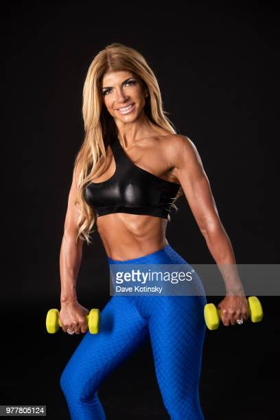 Teresa Giudice poses for a photoshoot before her first bodybuilding competition that was 2 days later She competed in the 2018 NPC South Jersey...