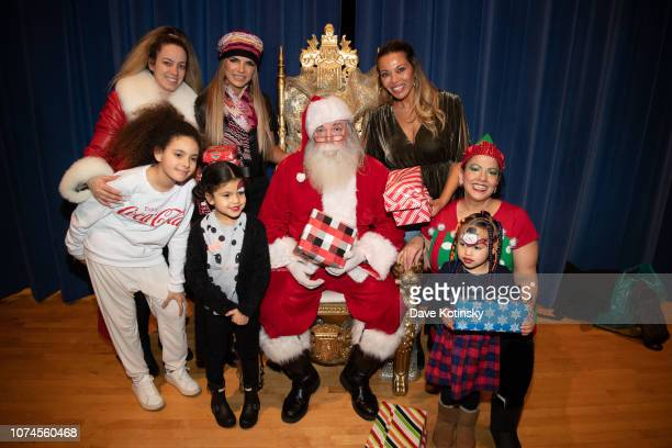 Teresa Giudice RHONJ Dolores Catania Jenny Tips Cesar DJ Envy arrive at Cesar DJ Envy's 2018 Holiday Toy Giveaway on December 21 2018 in Paterson New...