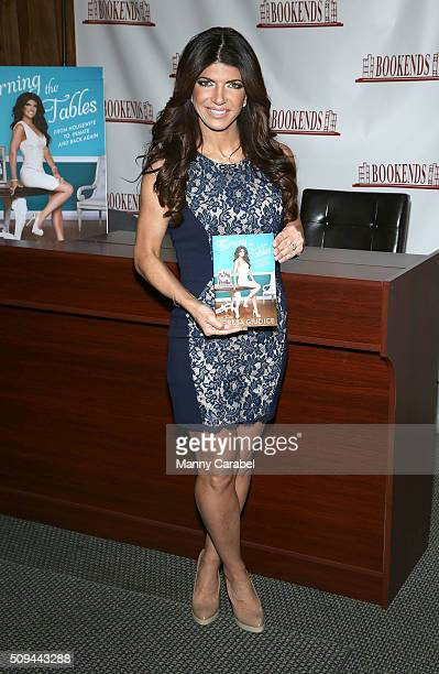 Teresa Giudice signs copies of her new book 'Turning the Tables' at Bookends on February 10 2016 in Ridgewood New Jersey