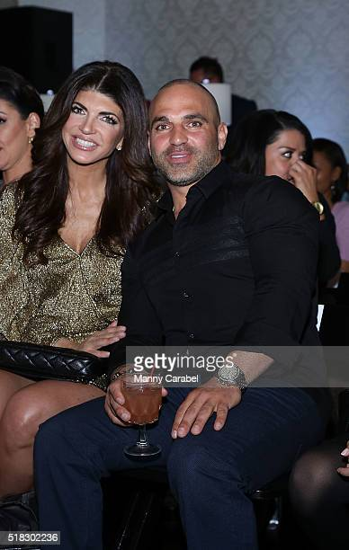 Teresa Giudice with her brother Joe Gorga attend the Envy by Melissa Gorga Fashion Show at Macaluso's on March 30 2016 in Hawthorne New Jersey