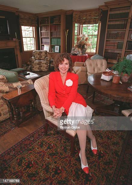 Teresa Heinz in her library at her hilltop farm estate