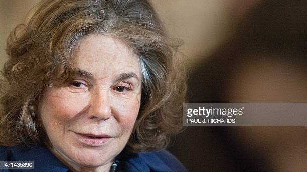 Teresa Heinz Kerry attends a luncheon in honor of Prime Minister of Japan Shinzo Abe held by her husband US Secretary of State John Kerry and US...
