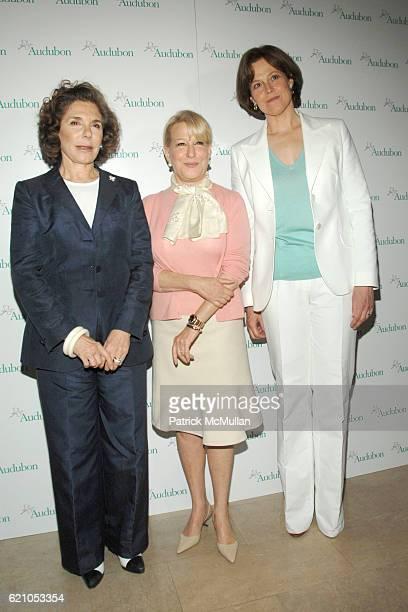 Teresa Heinz Kerry Bette Midler and Sigourney Weaver attend NATIONAL AUDUBON SOCIETY Hosts Women in Conservation Luncheon 2008 Rachel Carson Awards...