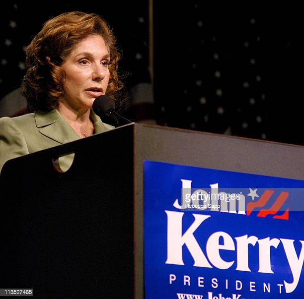 Teresa Heinz Kerry during Sean P Diddy Combs Speaks at Teresa Heinz Kerry's Youth Rally at Hynes Convention Center in Boston Massachusetts United...