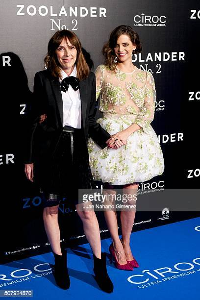 Teresa Helbig and Macarena Gomez attend the Madrid Fan Screening of the Paramount Pictures film 'Zoolander No 2' at the Capitol Theater on February 1...