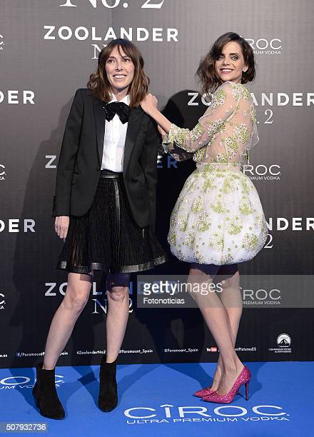 Teresa Helbig and Macarena Gomez attends the Madrid Fan Screening of the Paramount Pictures film 'Zoolander No 2' at the Capitol Cinema on February 1...