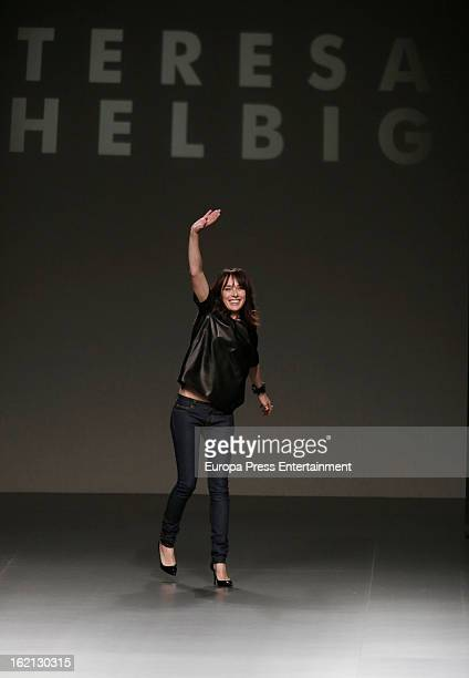 Teresa Helbig during the runway at Mercedes Benz Fashion Week Madrid Fall/Winter 2013/14 at Ifema on February 18 2013 in Madrid Spain
