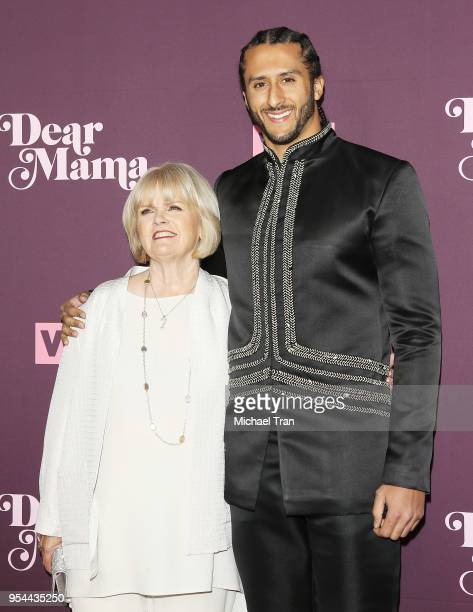 Teresa Kaepernick and Colin Kaepernick arrive to VH1's 3rd Annual 'Dear Mama A Love Letter To Moms' held at The Theatre at Ace Hotel on May 3 2018 in...