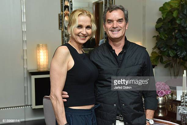 Teresa Laughlin and Robert Farrell attend the Galerie Magazine Event for Phillipe Stark's Signature Fragrance Launch at The Plaza Residences on...