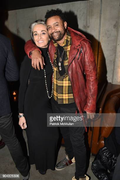 Teresa Lowery and Shaggy attend The Cinema Society Bluemercury host the after party for IFC Films' 'Freak Show' at Public Arts on January 10 2018 in...