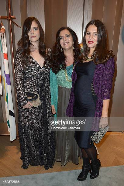 Teresa Maccapani Misssoni Angela Missoni and Margherita Maccapani Missoni attend the Missoni opening store at 219 Rue Saint Honore during the Paris...