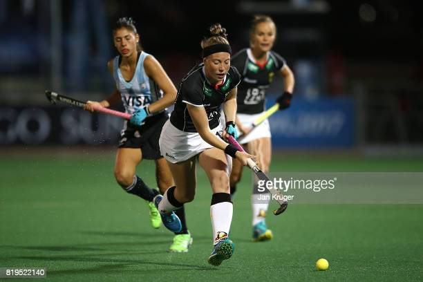 Teresa Martin Pelegrina of Germany controls the ball during day 7 of the FIH Hockey World League Women's Semi Finals semi final match between Germany...