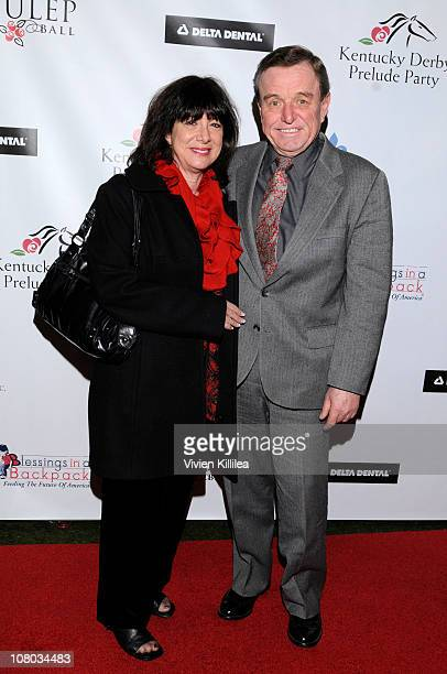 Teresa Mathers and Jerry Mathers attend the Kentucky Derby Prelude Party Arrivals at The London Hotel on January 13 2011 in West Hollywood California