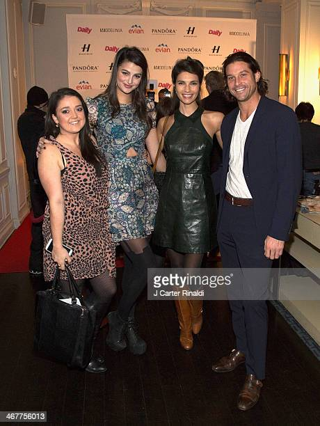 Teresa Moore Lily Lane and guests attend the Models Issue Party presented by The Daily Front Row And Modelinia at Harlow on February 7 2014 in New...