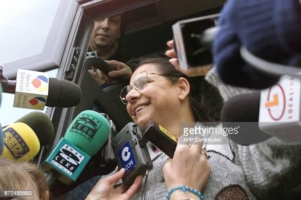 Teresa Moreno Maya 'Tani' la femme d'origine gitane accusée d'avoir assassiné son mari qui l'a maltraitée pendant dixsept ans répond aux questions...