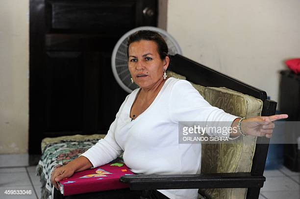 Teresa Munoz mother of murdered Miss Honduras World Maria Jose Alvarado speaks with AFP at her house in Santa Barbara 200 km northwest of Tegucigalpa...