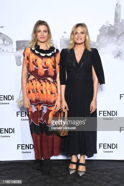 Teresa Osti and Isabella Ferrari attend the Cocktail at Fendi Couture Fall Winter 2019/2020 on July 04 2019 in Rome Italy