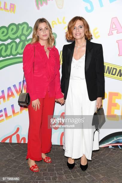 Teresa Osti and Isabella Ferrari attend the Stella McCartney photocall during Milan Men's Fashion Week Spring/Summer 2019 on June 18 2018 in Milan...