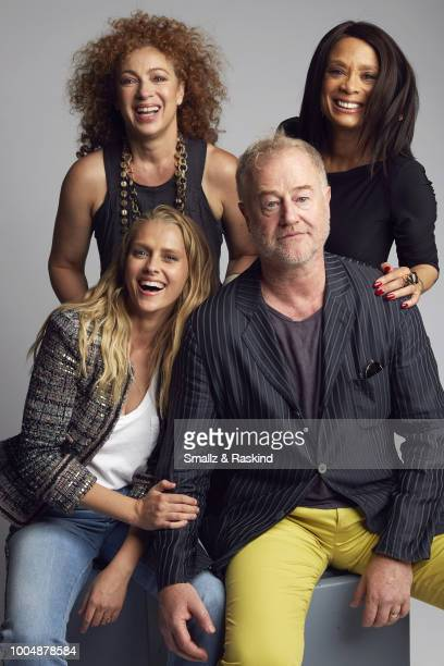 Teresa Palmer Alex Kingston Owen Teale and Valarie Pettiford from Sky One's 'A Discovery of Witches' poses for a portrait during the Getty Images...