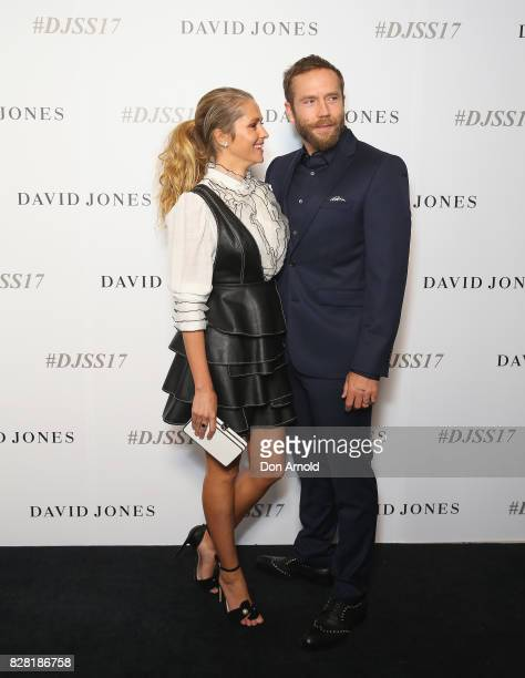 Teresa Palmer and Mark Weber arrive ahead of the David Jones Spring Summer 2017 Collections Launch at David Jones Elizabeth Street Store on August 9...