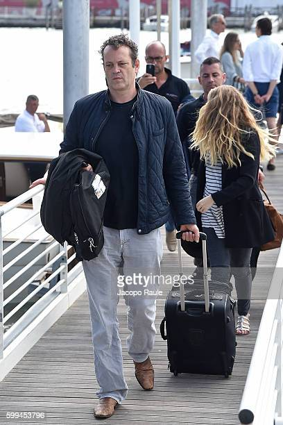 Teresa Palmer and Vince Vaughn are seen arriving at Venice Airport during The 73rd Venice Film Festival on September 5 2016 in Venice Italy