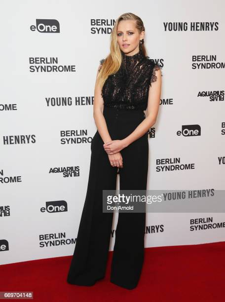 Teresa Palmer attends the Australian premiere of Berlin Syndrom at the Ritz Cinema on April 18 2017 in Sydney Australia