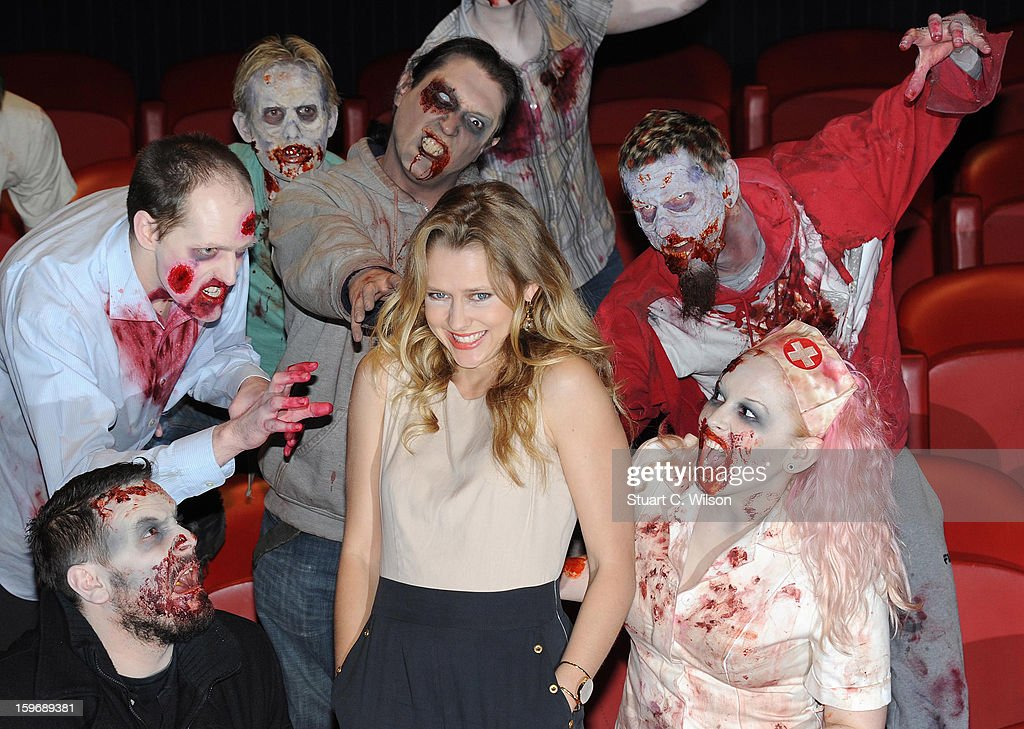 Teresa Palmer attends the photocall for 'Warm Bodies' at Soho Hotel on January 18, 2013 in London, England.