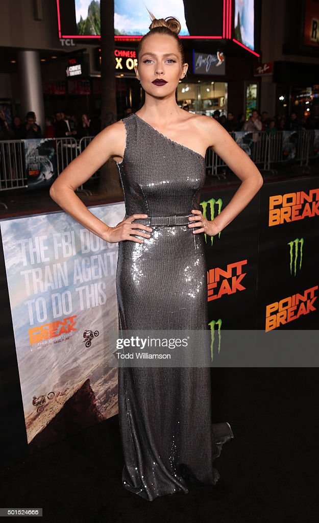 Teresa Palmer attends the premiere of Warner Bros. Pictures and Alcon Entertainment's 'Point Break' at TCL Chinese Theatre on December 15, 2015 in Hollywood, California.