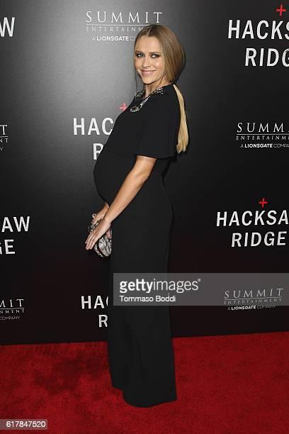 Teresa Palmer attends the screening of Summit Entertainment's 'Hacksaw Ridge' at Samuel Goldwyn Theater on October 24 2016 in Beverly Hills California