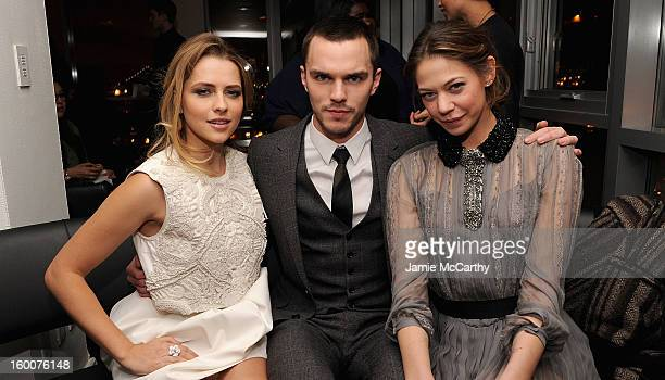 Teresa Palmer Nicholas Hoult and Analeigh Tipton attend the Cinema Society Artistry screening of 'Warm Bodies' after party at the Hotel on Rivington...
