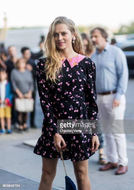 Teresa Palmer outside Miu Miu Cruise Collection during Paris Fashion Week Haute Couture Fall/Winter 20172018 Day One on July 2 2017 in Paris France