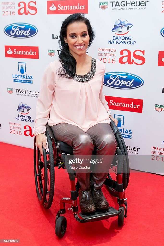 Teresa Perales attends the 'AS Del Deporte' awards 2016 gala at Westing Palace Hotel on December 19, 2016 in Madrid, Spain.
