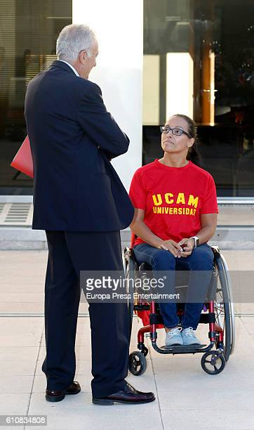 Teresa Perales attends the homage from Spanish Olympic Committee to Spanish Olympic medalists in Rio 2016 on September 27 2016 in Madrid Spain