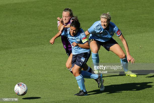 Teresa Polias of Sydney FC controls the ball during the round eight W-League match between the Perth Glory and Sydney FC at nib Stadium on December...