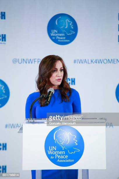Teresa Priolo attended The United Nations Women for Peace Association's Annual Awards Luncheon on March 10 2017 in New York City