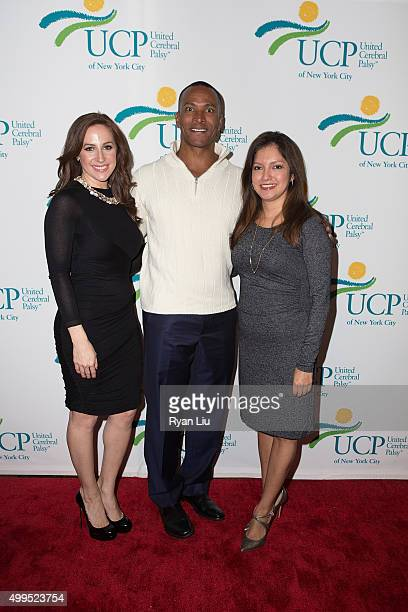 Teresa Priolo Mike Woods and Ines Rosales attend the 6th Annual UCP Of NYC Santa Project Party and auction benefiting United Cerebral Palsy of New...