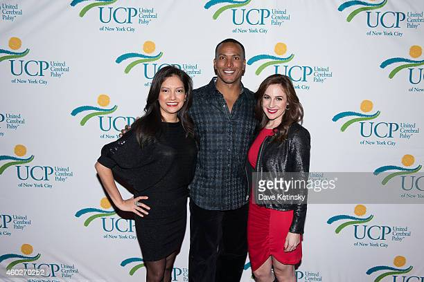 Teresa Priolo Mike Woods Ines Rosales attends the 5th Annual UCP Of NYC Santa Project Party Auction benefiting United Cerebral Palsy Of New York City...