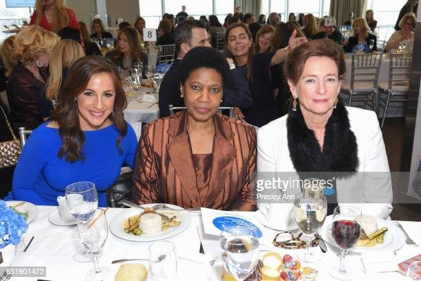 Teresa Priolo Phumzile MlamboNgcuka and Marijcke Thomson attend The United Nations Women for Peace Association's Annual Awards Luncheon on March 10...