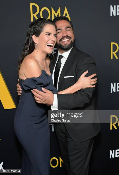 Teresa Ruiz and and Luis Rosales attend the Netflix Roma Premiere at the Egyptian Theatre on December 10 2018 in Hollywood California