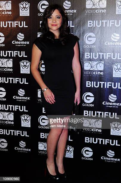 Teresa Ruiz during the red carpet of the movie Biutiful at Cinemex Antara on October 18 2010 in Mexico City Mexico