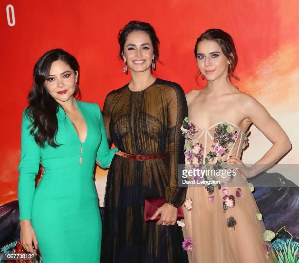 Teresa Ruiz Fernanda Urrejola and Tessa Ia attend Netflix's Narcos Mexico Season 1 Premiere at Regal Cinemas LA Live on November 14 2018 in Los...