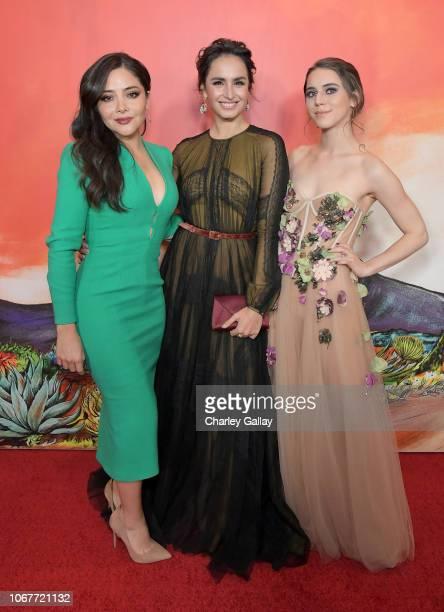 Teresa Ruiz Fernanda Urrejola and Tessa Ia attend the Netflix Original Series Narcos Mexico special screening at LA Live in Los Angeles CA on...