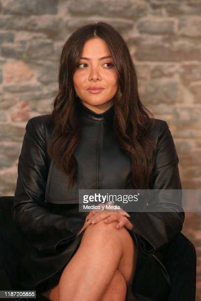 Teresa Ruiz looks on during the presentation of the TV show 'Narcos''s all season will be aired on AE at Four Seasons Hotel Mexico City on November...