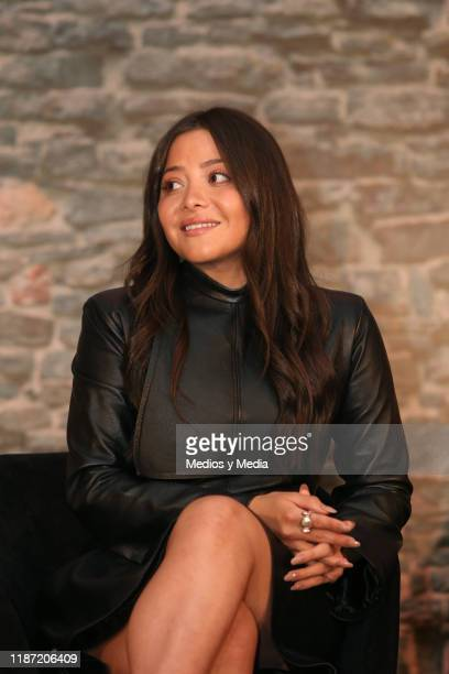 Teresa Ruiz smiles during the presentation of the TV show 'Narcos''s all season will be aired on AE at Four Seasons Hotel Mexico City on November 12...
