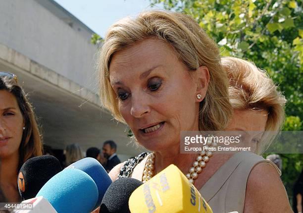 Teresa Samaranch attends the funeral for the Spanish designer Manuel Pertegaz on August 31 2014 in Barcelona Spain