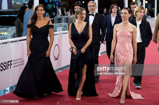 Teresa Sobral Alba Baptista and Carla Maciel attend 'Patrick' premiere during 67th San Sebastian International Film Festival on September 25 2019 in...